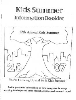 Kids Summer Information Booklet
