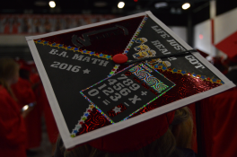 Life just got real. Math-themed grad cap with equations.