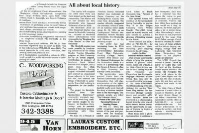 Newspaper clipping on LCBD
