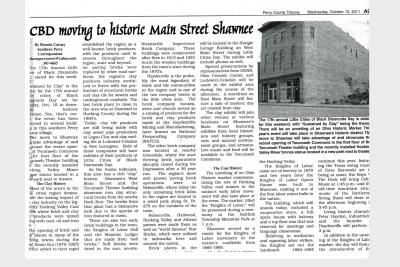 LCBD Newspaper Clipping Moving to Main Street