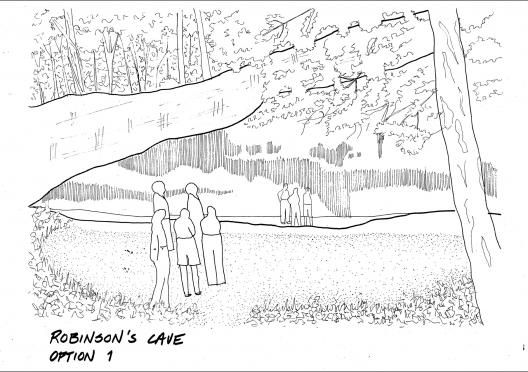 SCA's vision for Robinson's Cave located in New Straitsville, Ohio