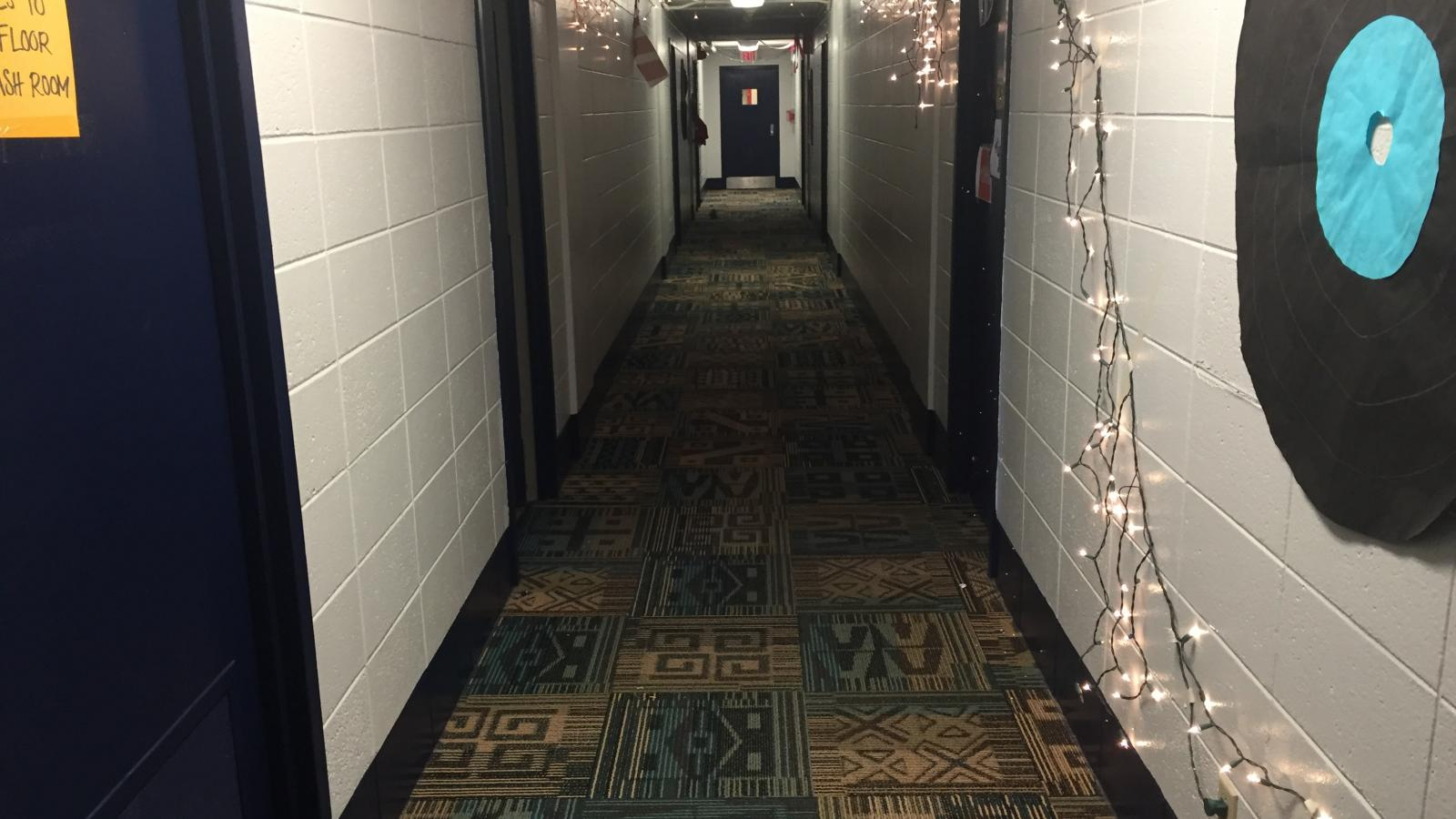 Ohio State University Campus Religion: Christmas Lights in Taylor Tower