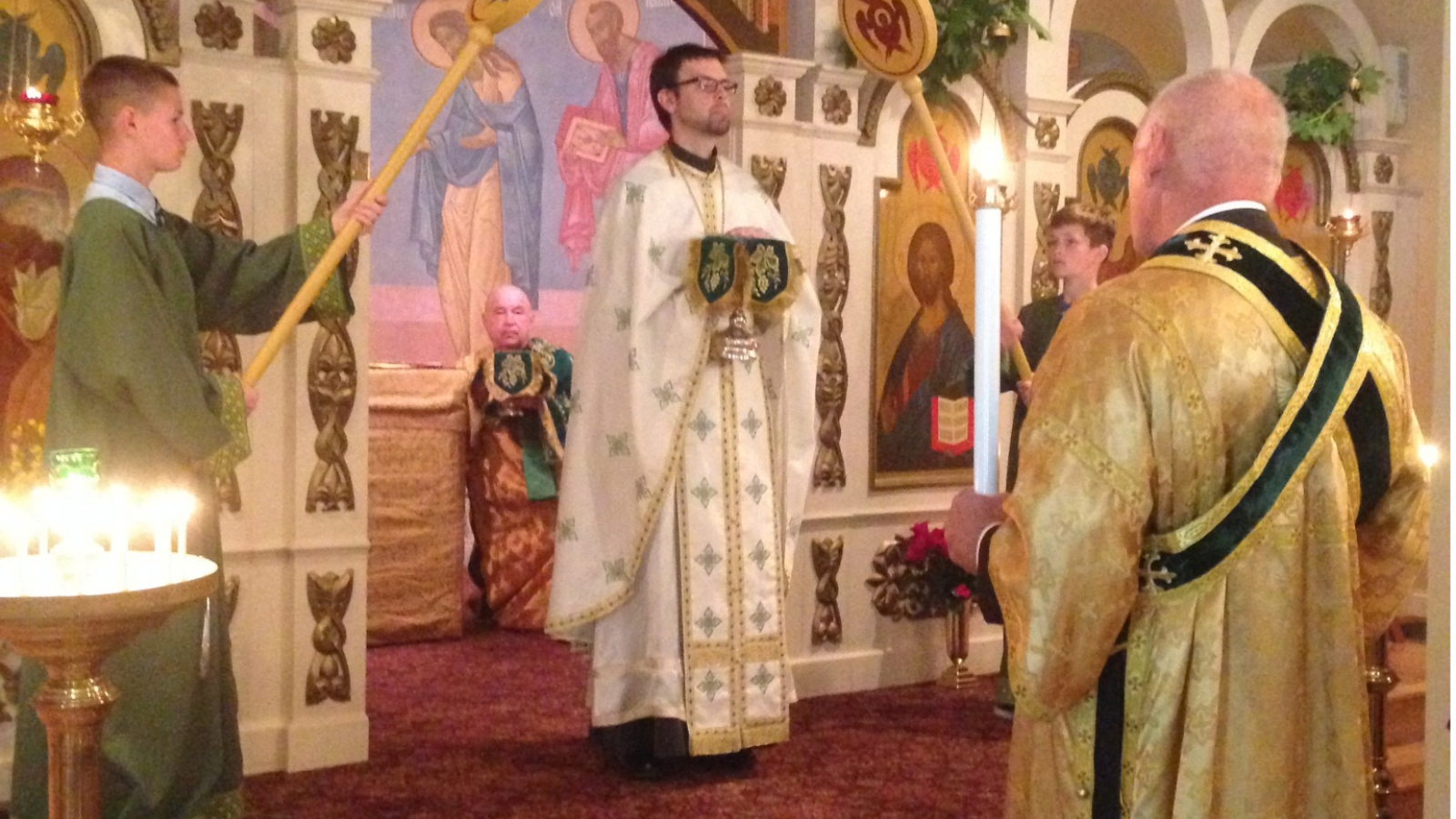 Father Mathew Leading Service at St. Gregory of Nyssa Orthodox Church
