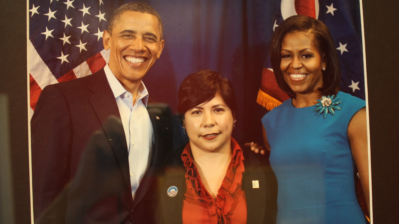 Ramona with President Obama and Michelle Obama