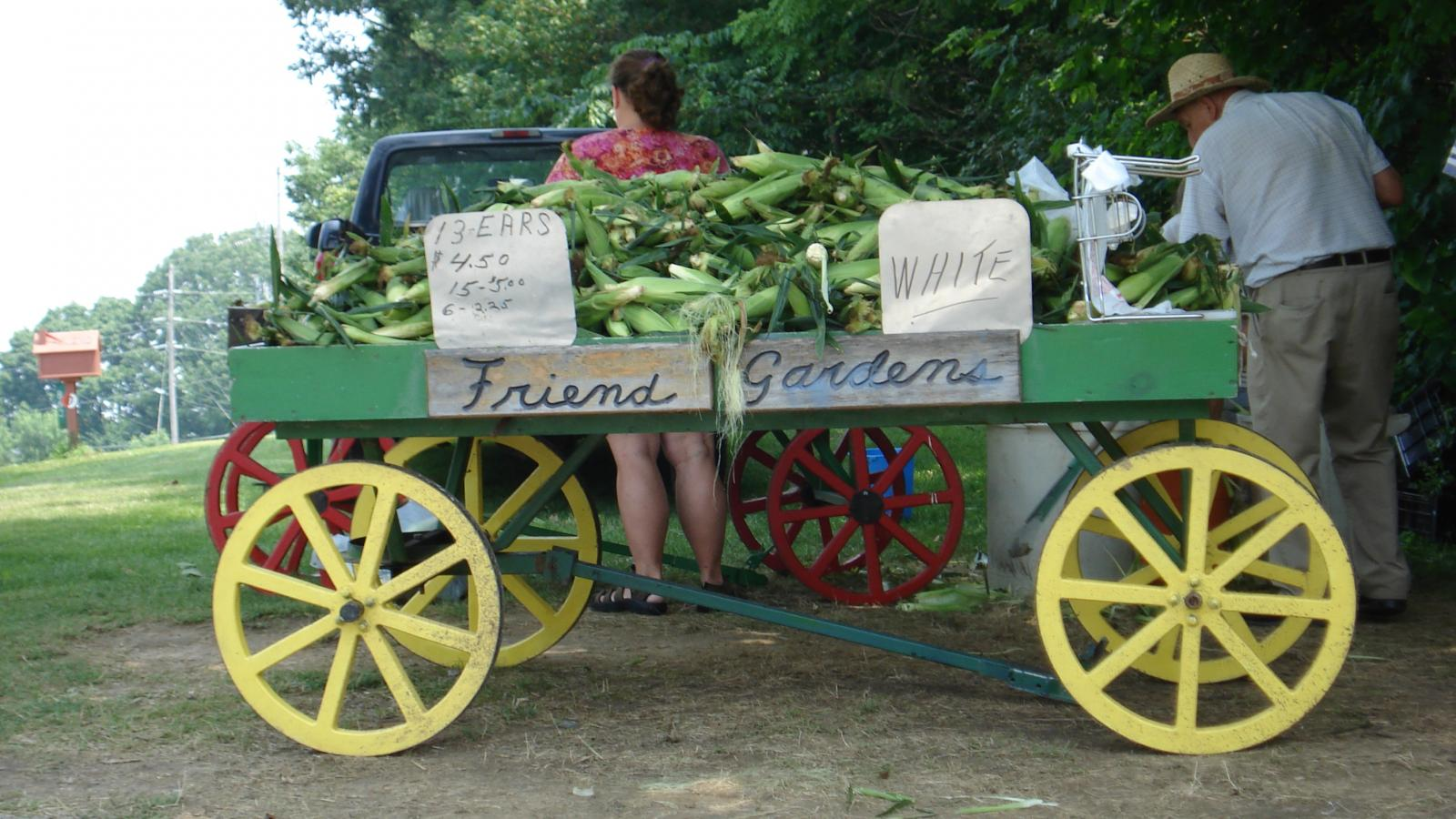 Sweet Corn Stand in Fairfield County, OH