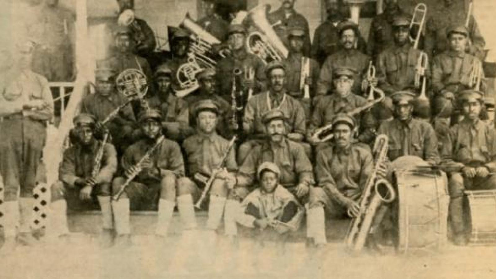 Members of the Second Regiment Marching Band.  Columbus, 1910