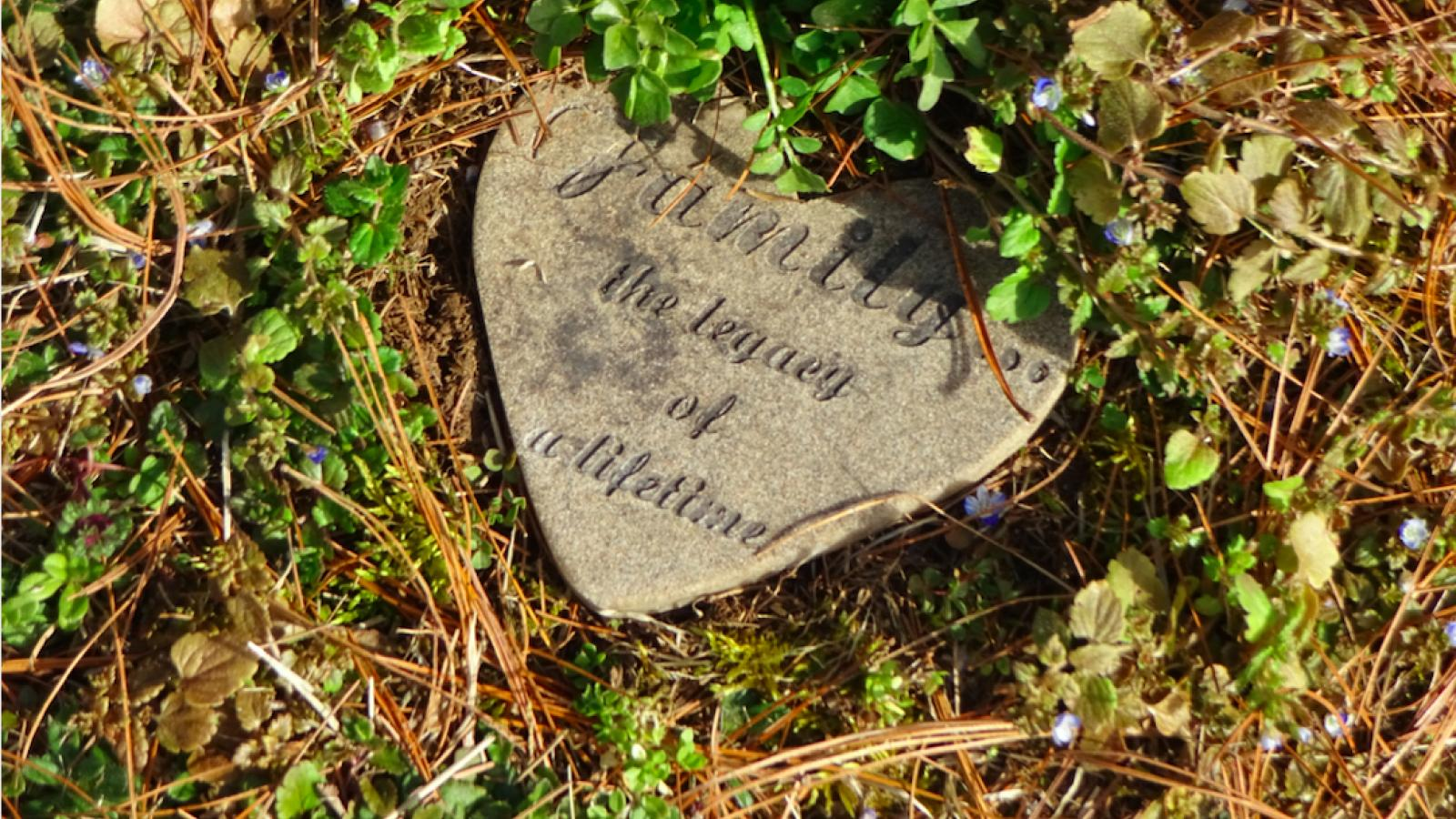 Stone above Lloyd Allen and Geraldine's headstone, placed there by Marlita Cadogan