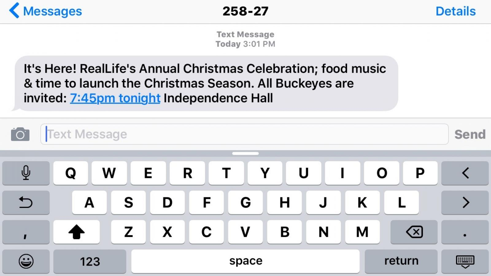 Ohio State University Campus Religion: RealLife text about Christmas Celebration