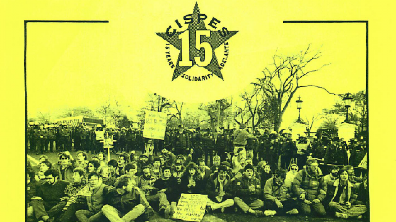 "CISPES ""15 Years of Solidarity"" Flyer"