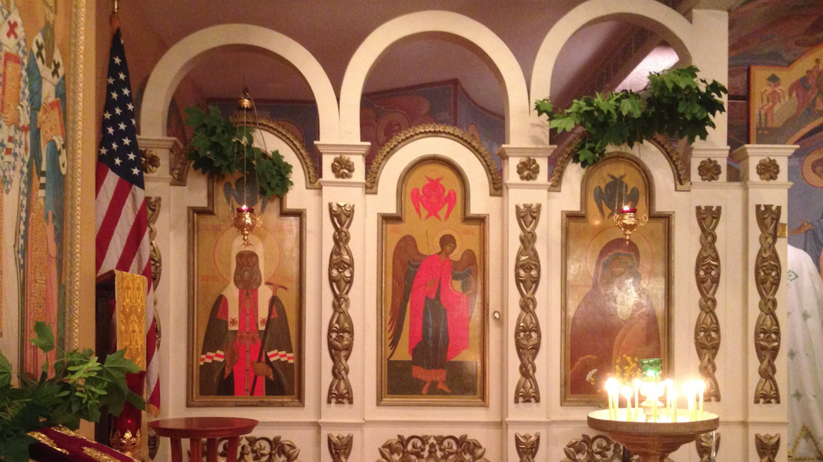 Left Side of Iconstasis at St. Gregory of Nyssa Orthodox Church