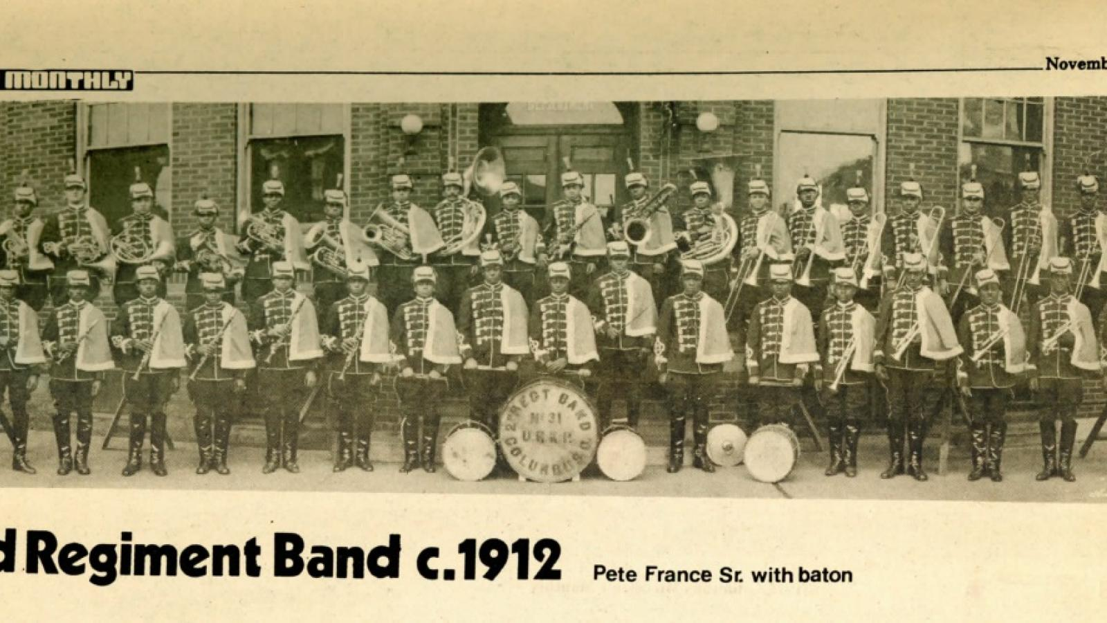 The Second Regiment Marching Band. Columbus, Ohio, 1912.