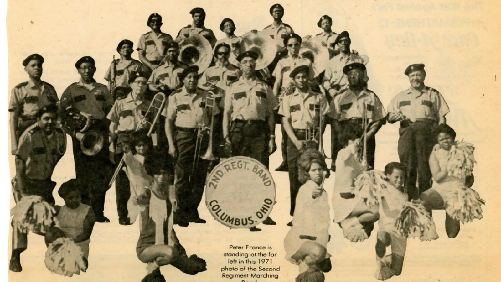 The Second Regiment Marching Band. Columbus, Ohio, 1971.