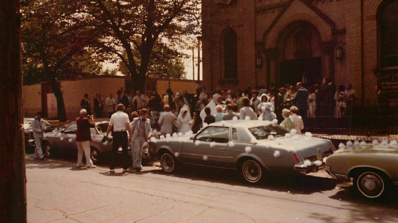 Wedding at St. Theodosius Russian Orthodox Cathedral, Cleveland, July 23, 1977.