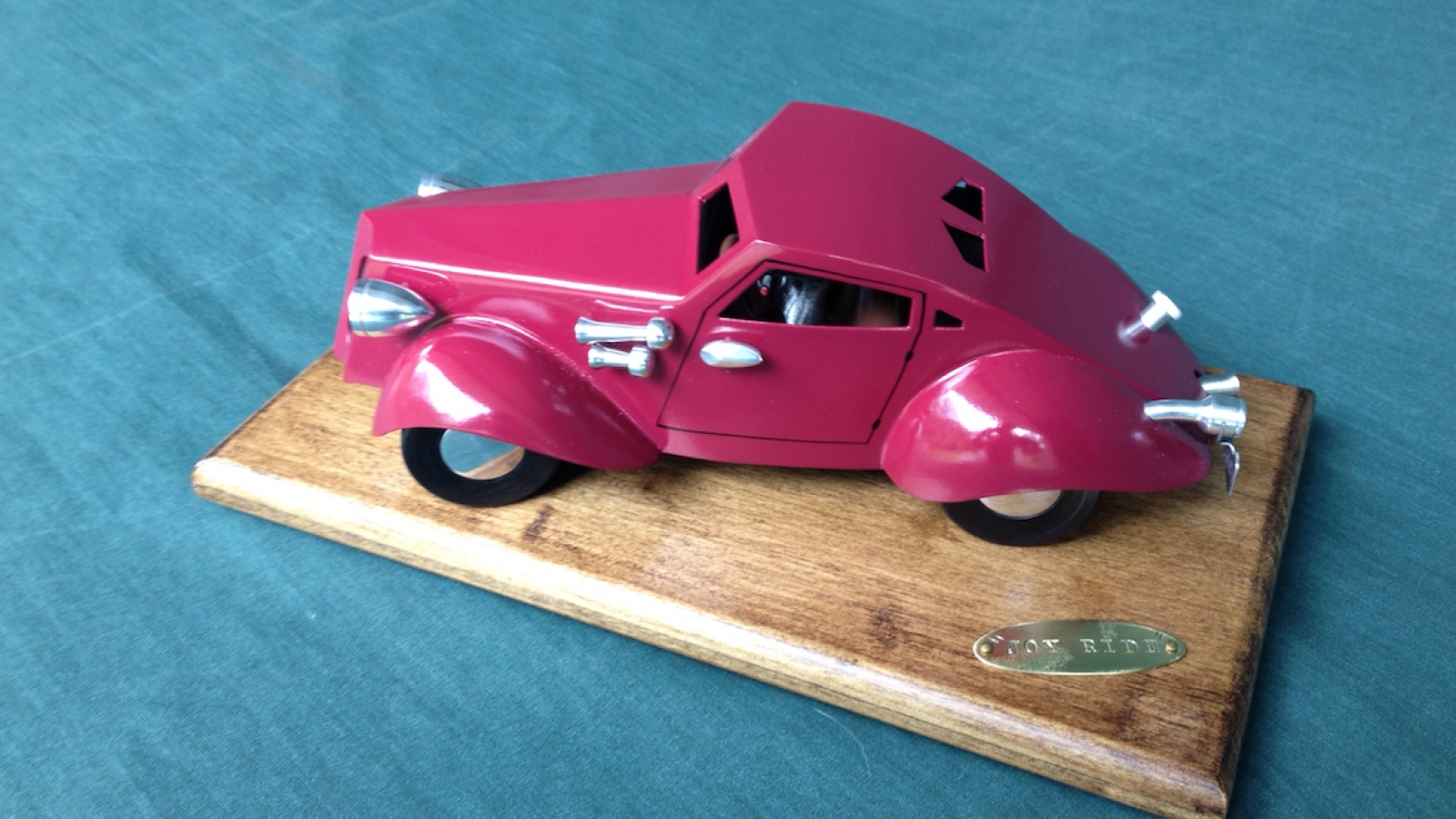 "Small car sculpture called ""Joyride"""