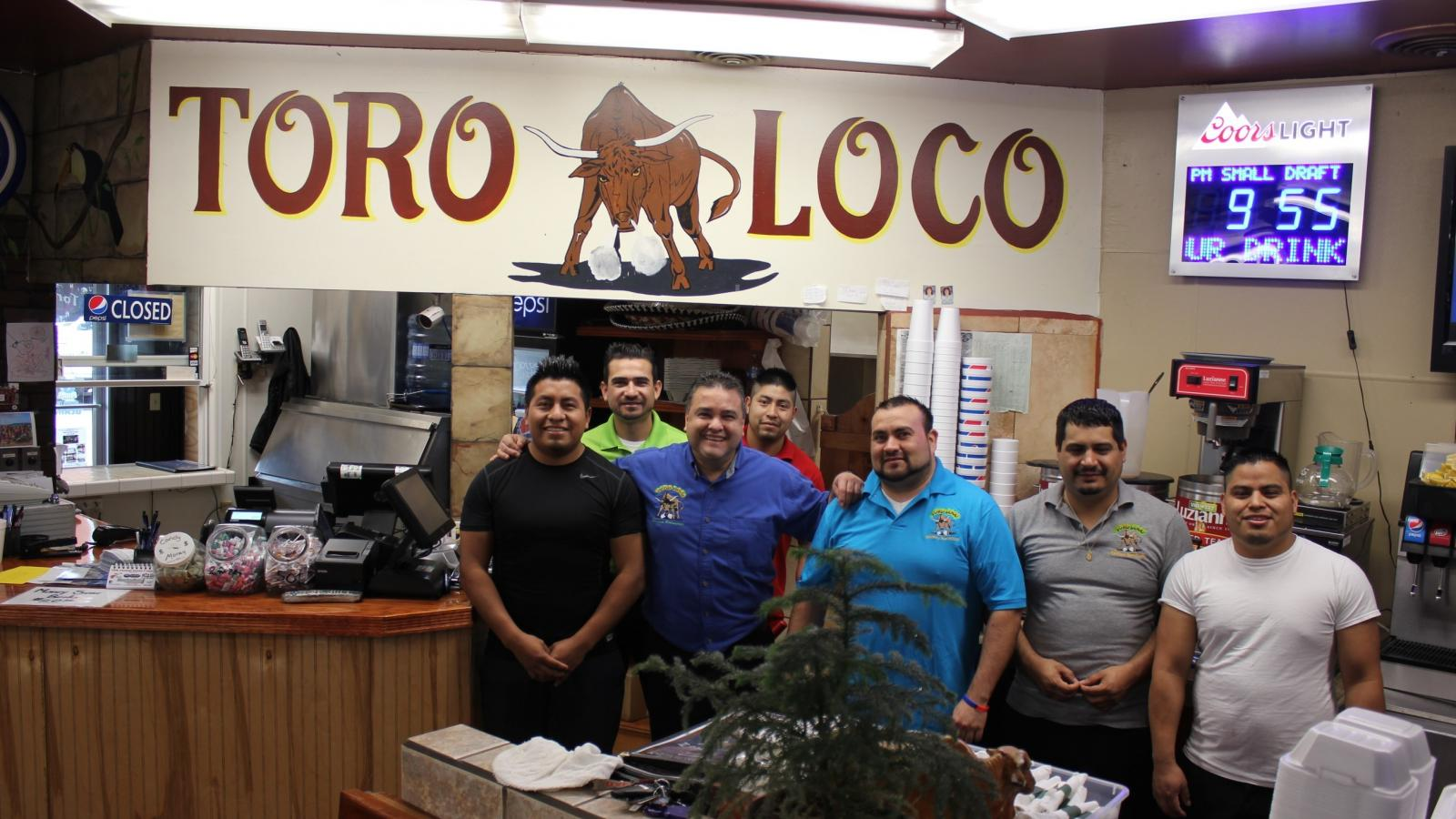 Mario and his employees at Toro Loco